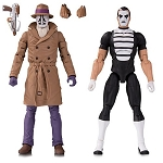 Watchmen Doomsday Clock Rorschach and Mime Action Figure 2-Pack