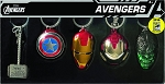 SDCC 2016 AVENGERS 4PC PEWTER KEYRING SET
