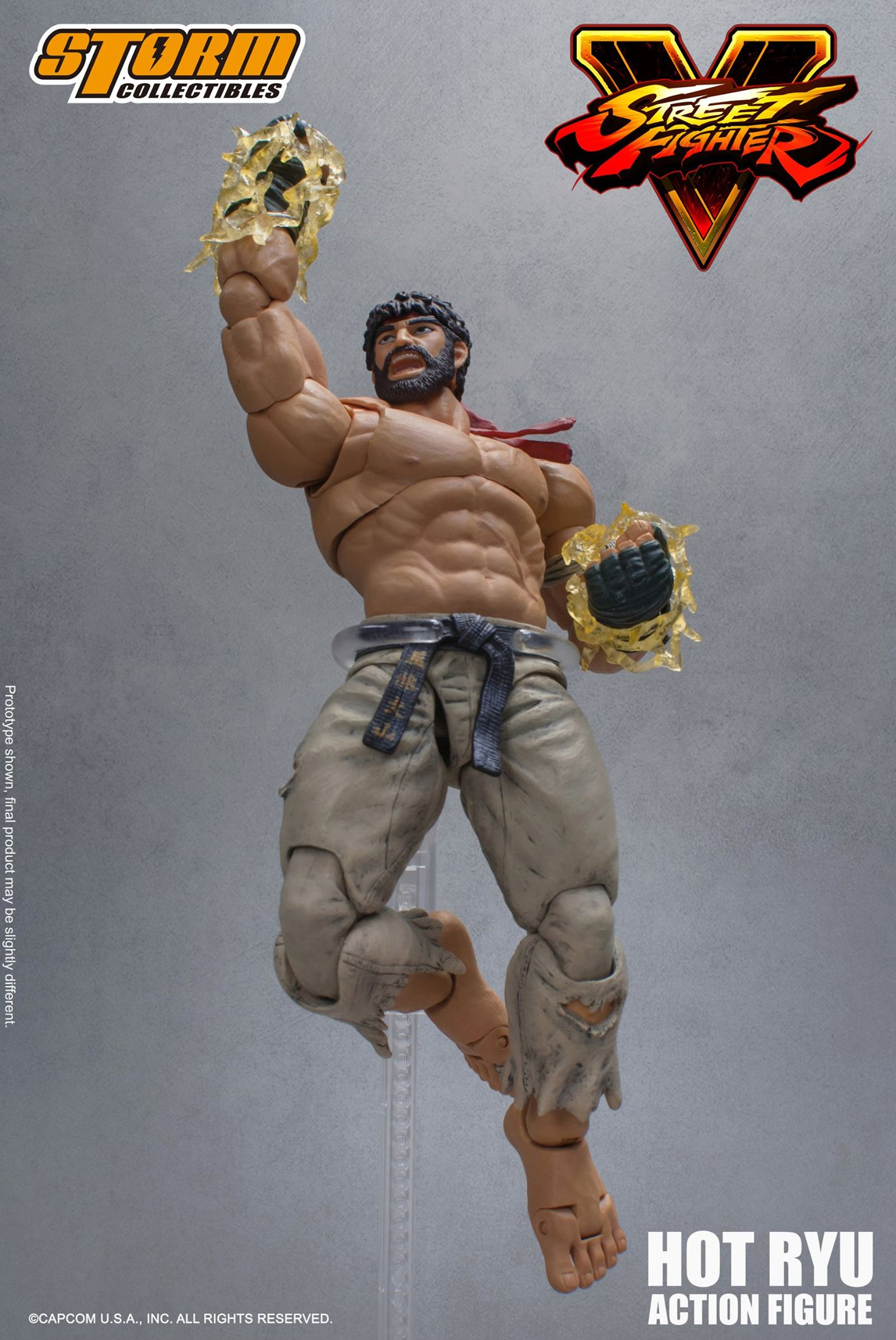 """Storm Collectibles SDCC 2017 Street Fighter V 5 /""""Hot Ryu/"""" 1:12 Action Figure"""