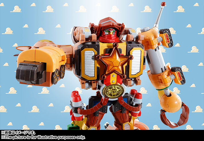Bandai Chogokin TOY STORY Woody Robo Sheriff Star Action Figure from Japan