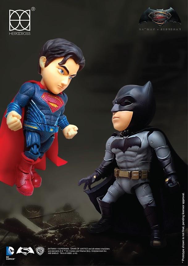 Batman v Superman Hybrid Metal Action Figure Superman 14 cm HEROCROSS