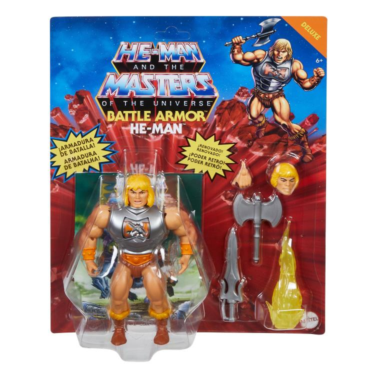 DELUXE BATTLE ARMOR HE-MAN - MASTERS OF THE UNIVERSE ORIGINS ACTION FIGURE