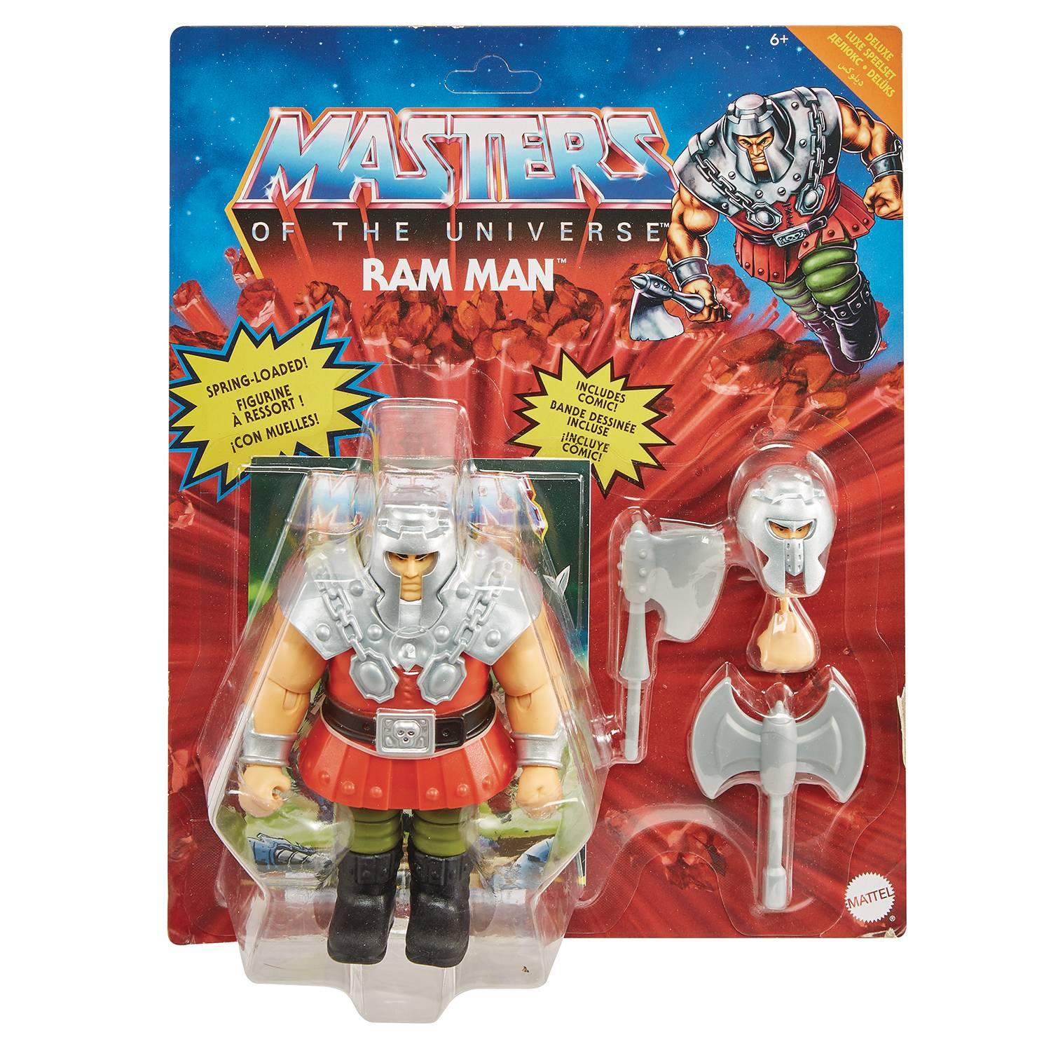 DELUXE RAM MAN - MASTERS OF THE UNIVERSE ORIGINS ACTION FIGURE