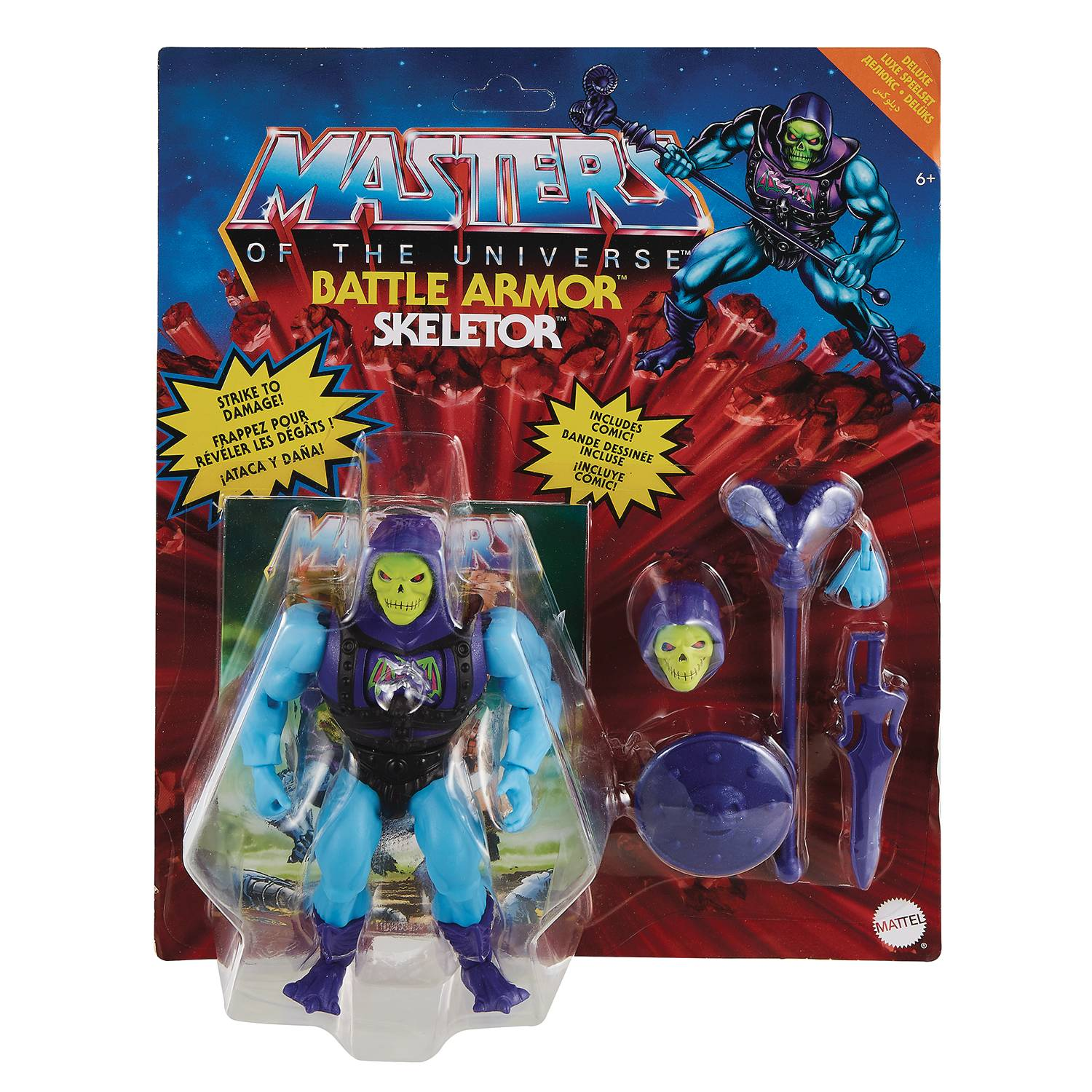 DELUXE BATTLE ARMOR SKELETOR - MASTERS OF THE UNIVERSE ORIGINS ACTION FIGURE
