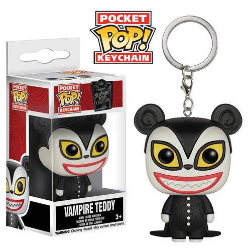 the nightmare before christmas vampire teddy pop vinyl figure key chain