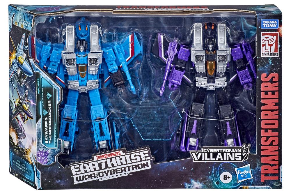 Skywarp and Thundercracker - Transformers Generations War for Cybertron Earthrise Voyager