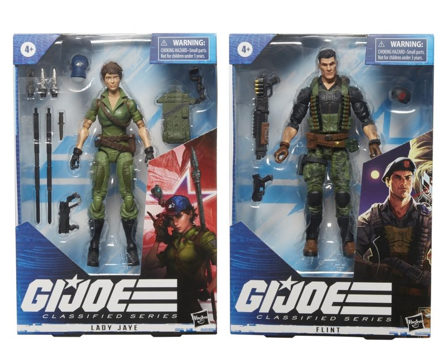 LADY JAYE  & FLINT (SET OF 2) - G.I. Joe Classified Series 6-Inch Action Figure