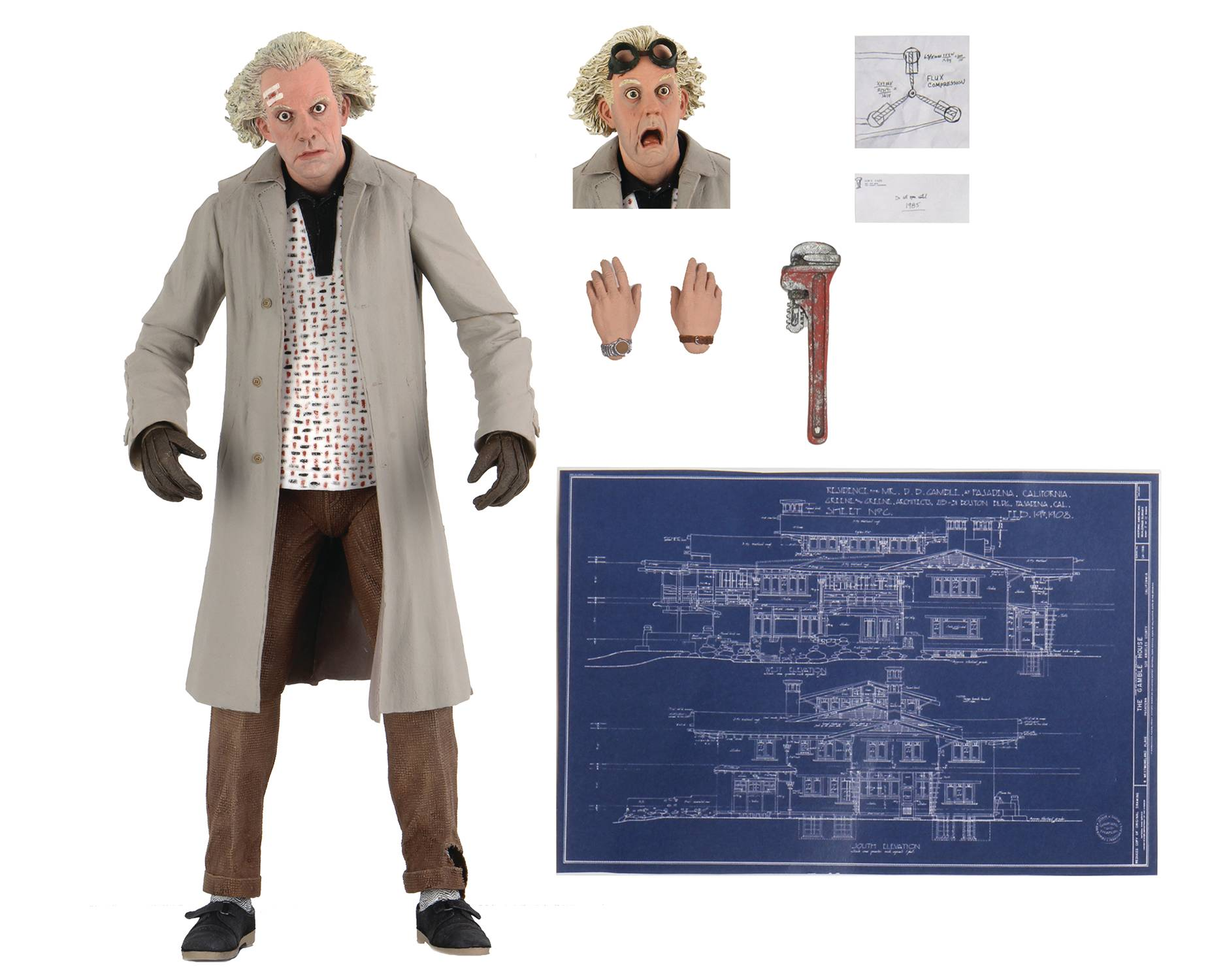 ULTIMATE DOC BROWN BACK TO THE FUTURE - NECA 7 INCH ACTION FIGURE
