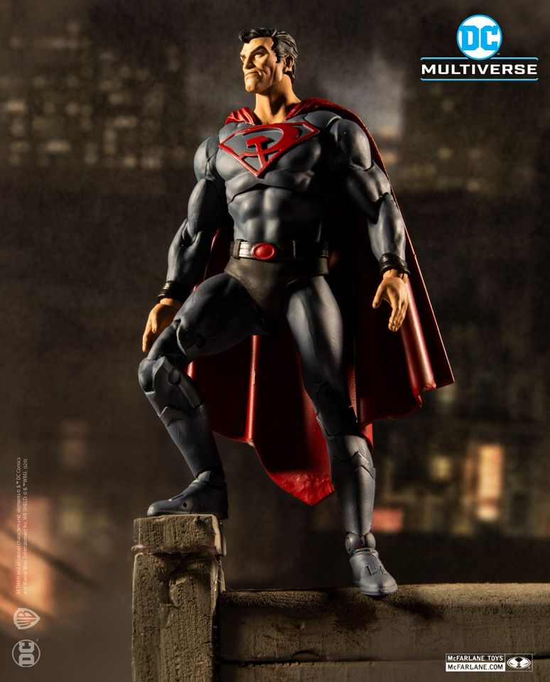 RED SON SUPERMAN - DC MULTIVERSE McFarlane Toys 7-Inch Action Figure
