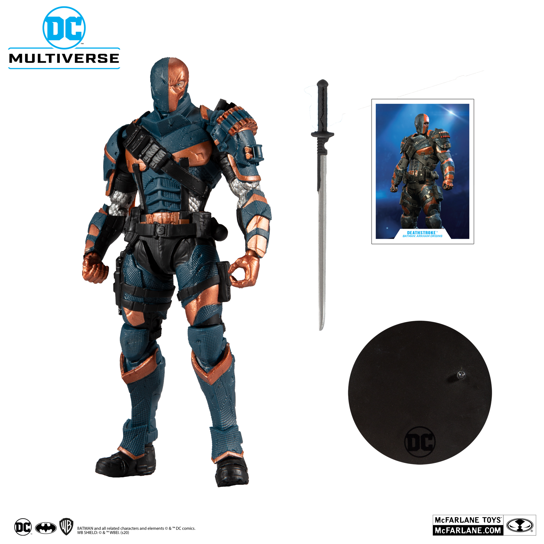 ARKHAM ORIGINS DEATHSTROKE - DC MULTIVERSE McFarlane Toys 7-Inch Action Figure