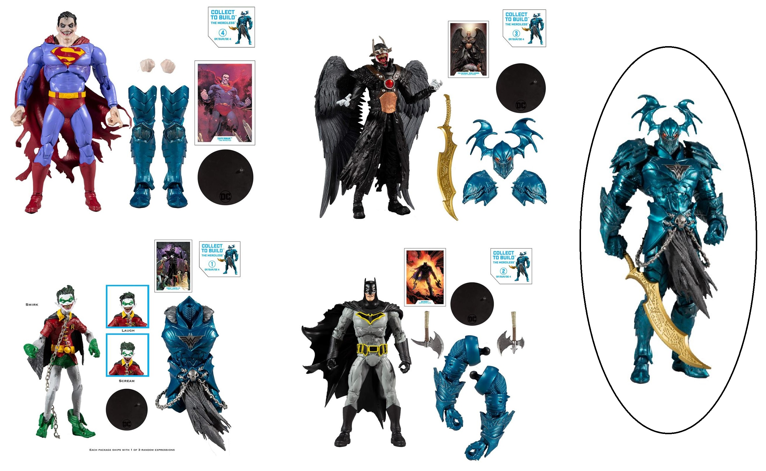 MERCILESS BAF DC MULTIVERSE WAVE 2 (SET OF 4) McFarlane Toys 7-Inch Action Figure