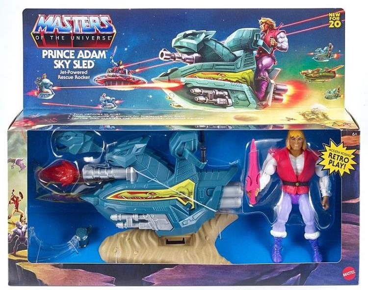 PRINCE ADAM AND SKY SLED - MASTERS OF THE UNIVERSE ORIGINS