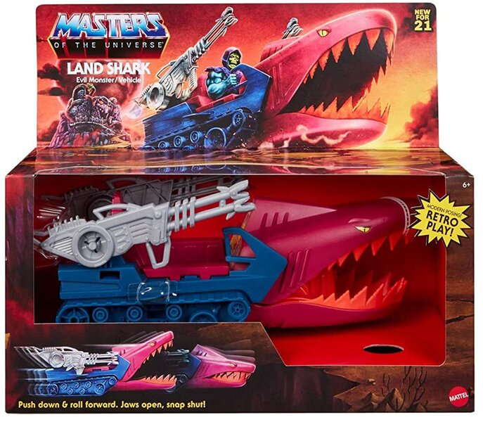 LAND SHARK VEHICLE - MASTERS OF THE UNIVERSE ORIGINS