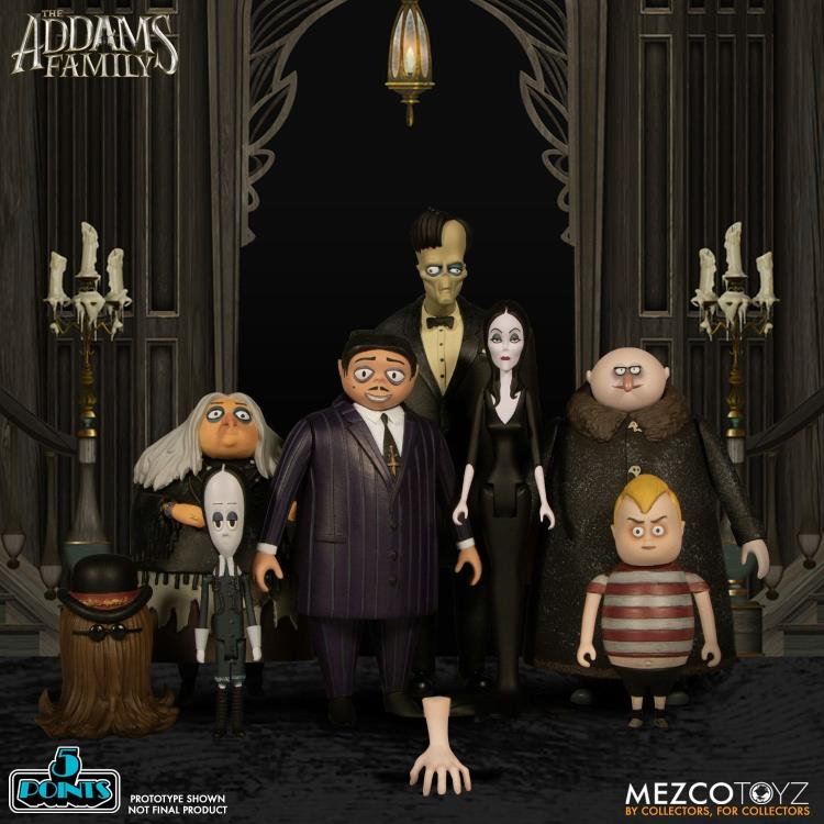 THE ADDAMS FAMILY 5 POINTS  MEZCO Set of 4 (2-packs)