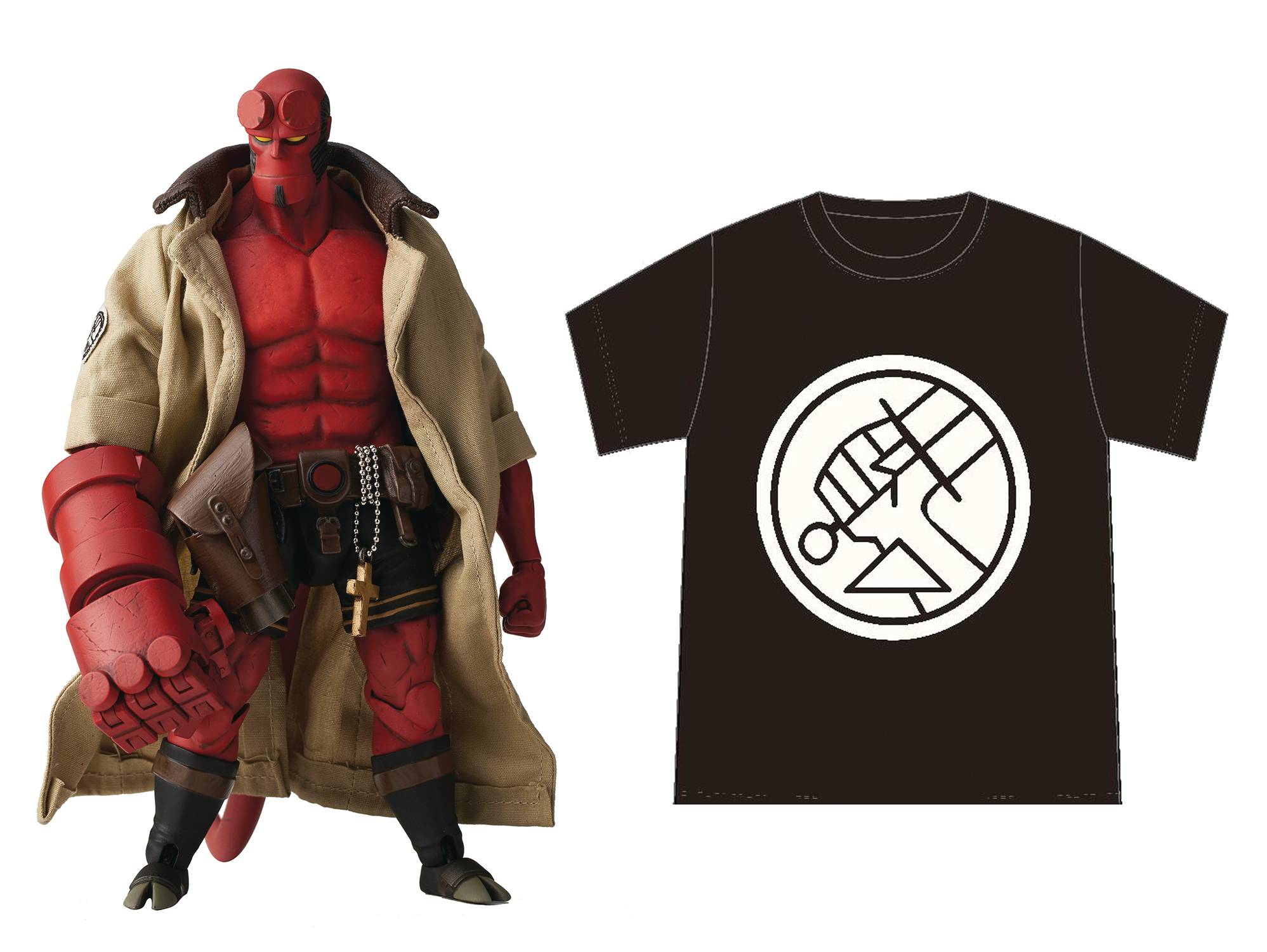 HELLBOY BPRD SHIRT VERSION PX 1/12 SCALE ACTION FIGURE BY 1000 TOYS
