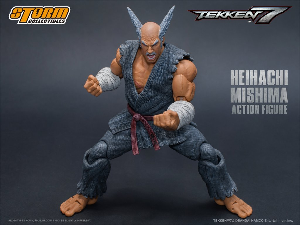 Storm Collectibles SDCC 2018 Exclusive Tekken 7 Heihachi Mishima 1/12 Scale  Action Figure