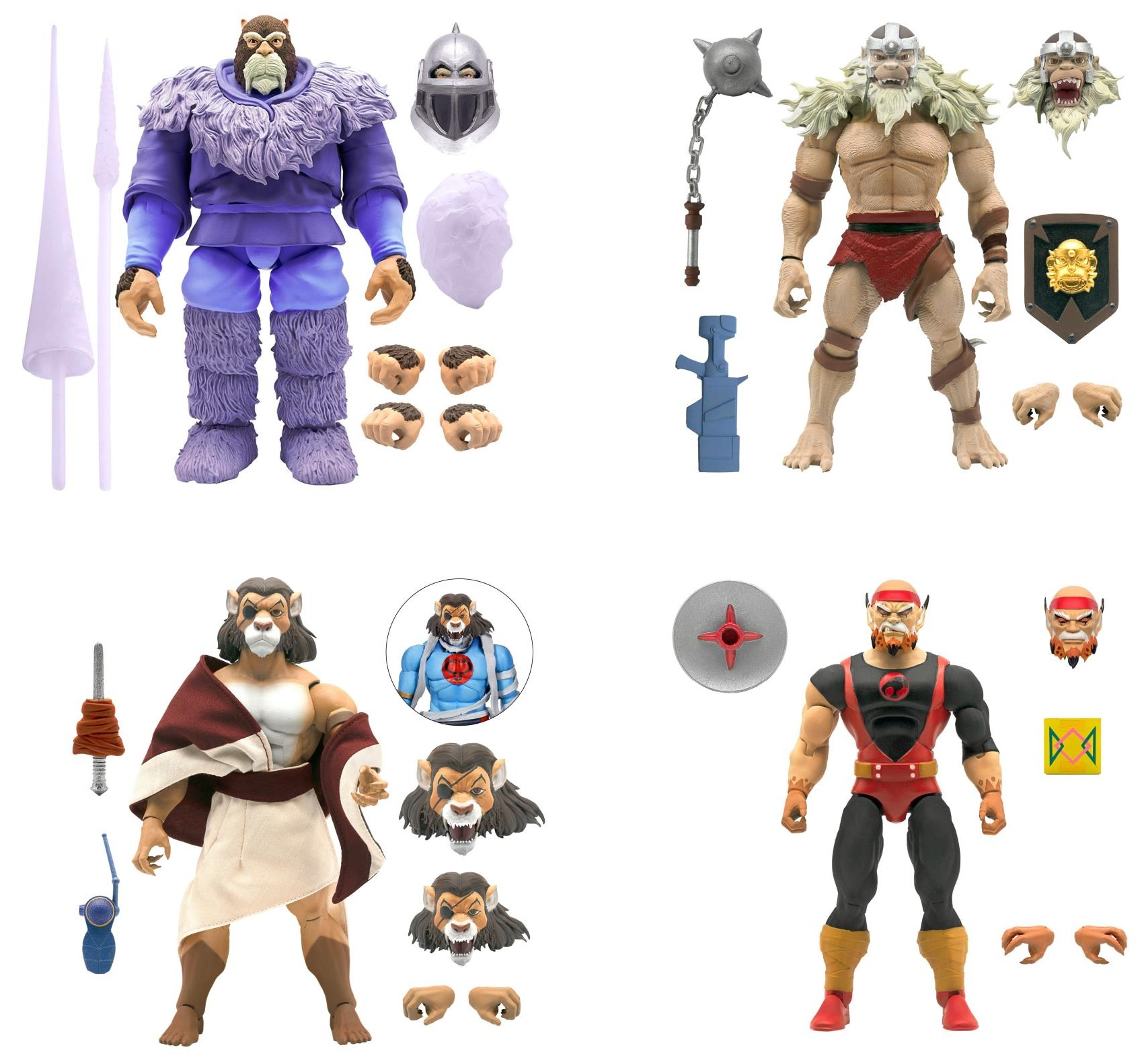 ThunderCats Ultimates Wave 4 (SET OF 4) 7-Inch Action Figures