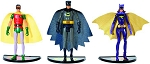 1966 BATMAN TV SERIES ACTION FIGURE 3 PACK SET (BATMAN, ROBIN AND BATGIRL)
