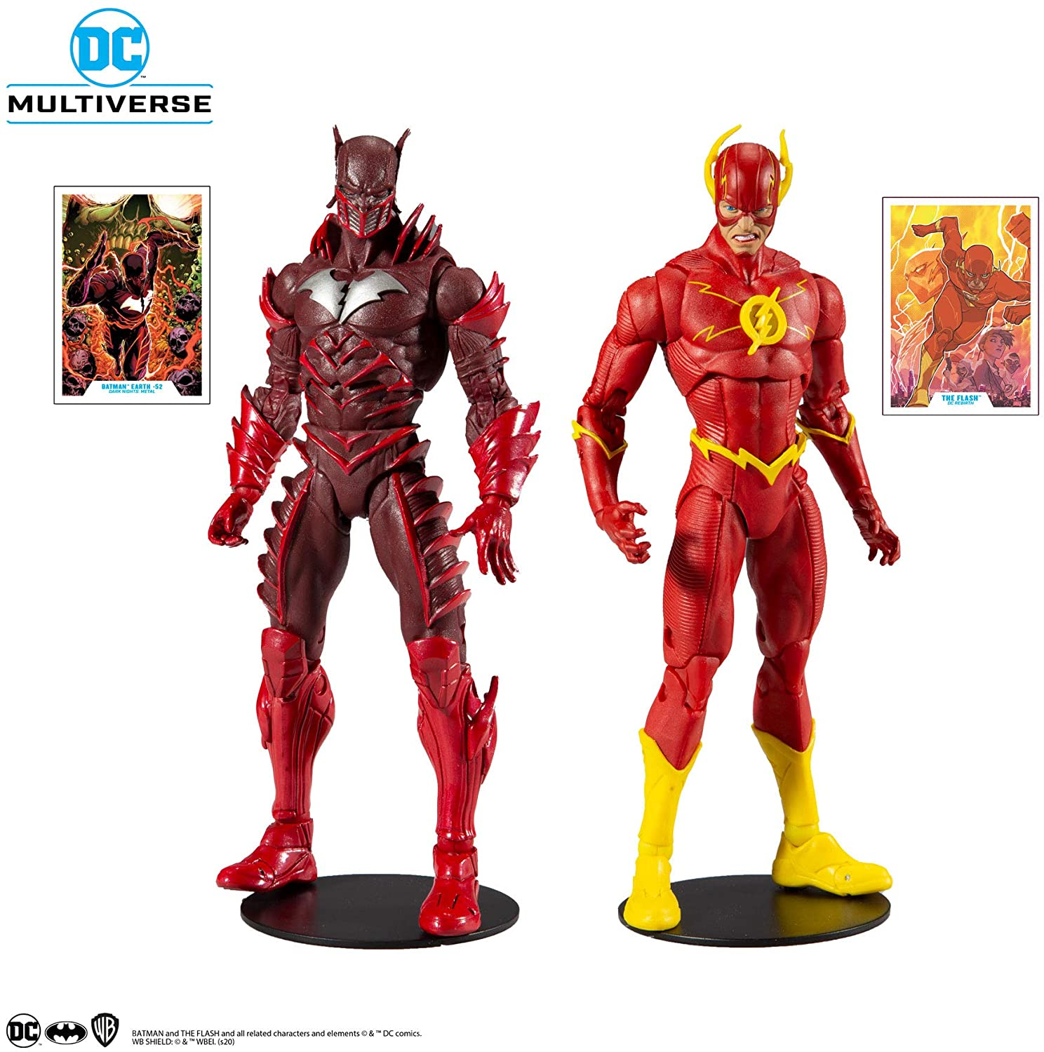 DC EARTH 52 BATMAN vs. FLASH - DC MULTIVERSE McFarlane Toys 7-Inch Action Figure 2-PACK