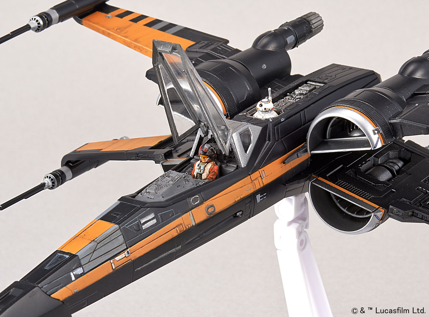 Bandai Star Wars 1/72 Plastic Model Poe's X-Wing Fighter