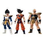 Bandai Shokugan Dragon Ball Shodo 4 Goku, Vegeta and Nappa (Set of 3)