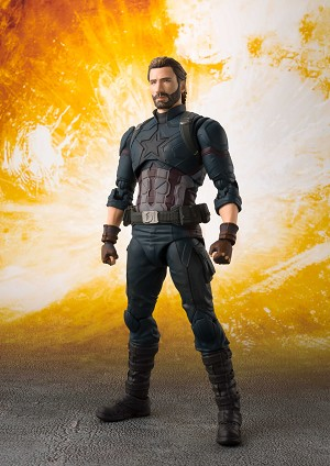"Bandai S.H.Figuarts Captain America & Tamashii Effect Explosion ""Avengers: Infinity War"""