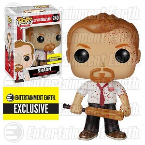 Shaun of the Dead Bloody Shaun Pop! Vinyl Figure - Entertainment Earth Exclusive (Damaged Box)