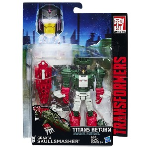 Transformers Generations Titans Return Deluxe Grax and Skullsmasher