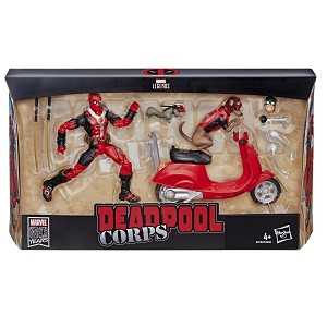 Marvel Legends DEADPOOL on SCOOTER with Dogpool & Squirrelpool