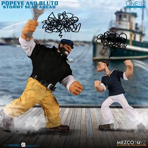 POPEYE & BLUTO STORMY SEAS AHEAD DELUXE BOX SET - Mezco One:12 Collective
